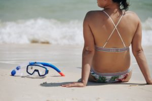 Snorkeling mask and snorkel