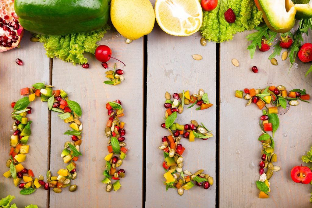 Word diet is made from fruite and vegetables. Healthy vegan diet raw food.